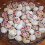 More mouth-watering research - Italian wedding cookies (also known as Nonna's Funeral Cookies in THE BRILLIANT FALL OF GIANNA Z.)
