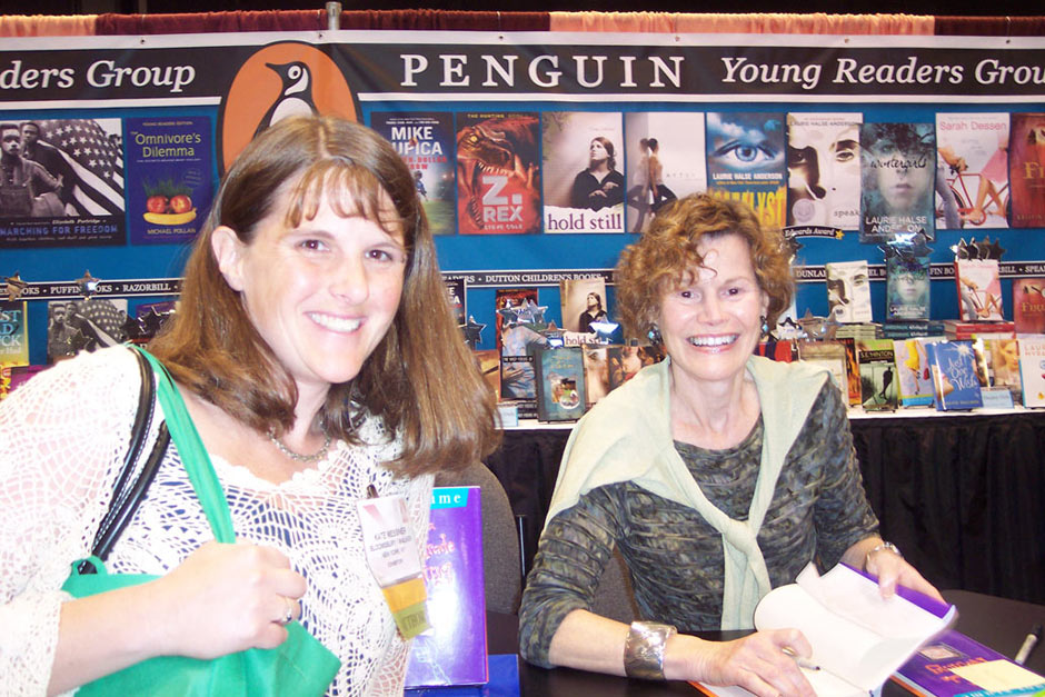 At the American Library Association Conference in 2009, I got to meet one of my long-time writing heroes, Judy Blume.