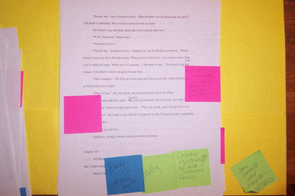 One of my manuscripts during the revision stage. Messy, huh?