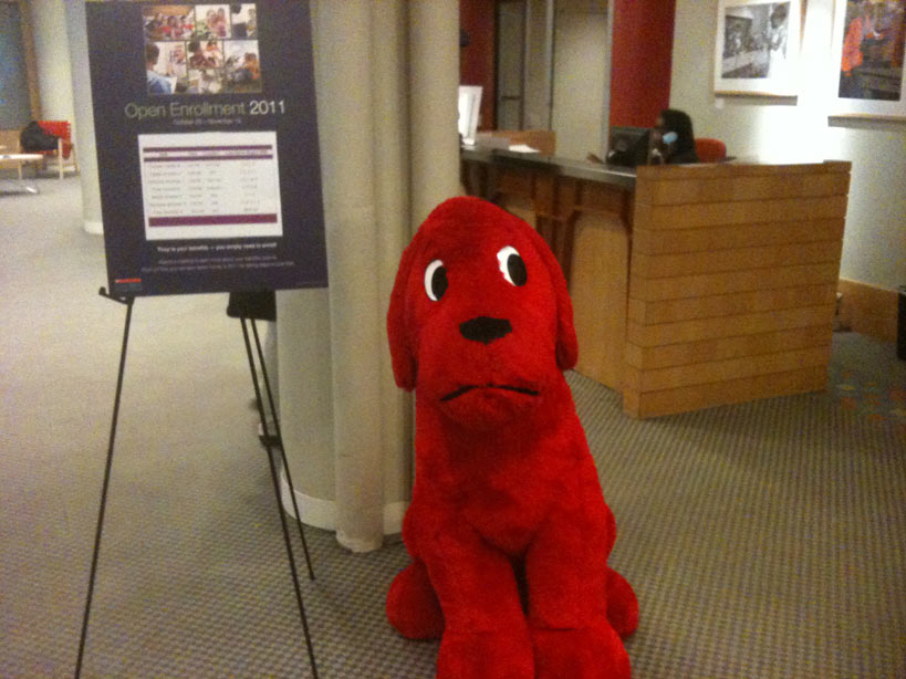 Look who met me in the lobby when I went to New York City to visit my Scholastic editor!