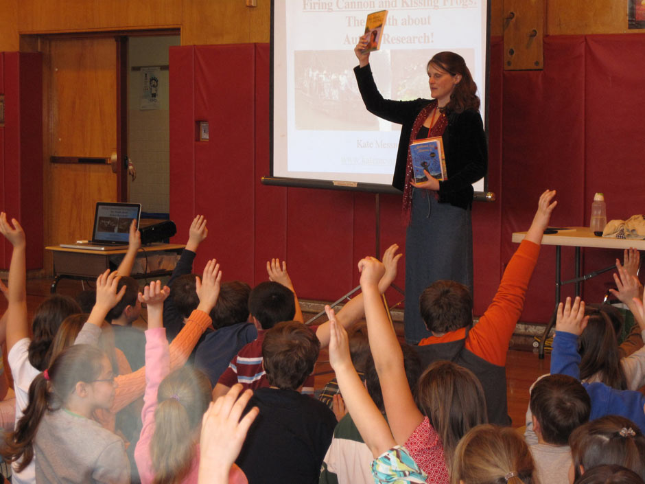 I love visiting schools to talk with kids about books and writing.