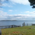 And finally…here's a shot of Lake Champlain from my back yard.